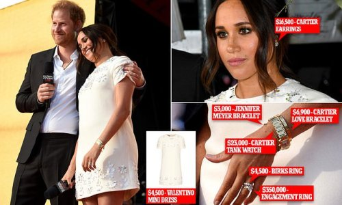 Meghan wears $4,500 dress while preaching about vaccine equity