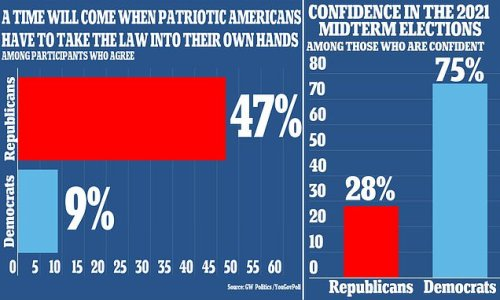 Half of GOP think they will soon 'have to take law' into their hands