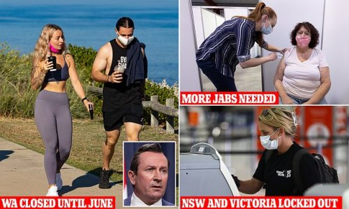 Mark McGowan warns NSW and Victoria could remain locked out until June