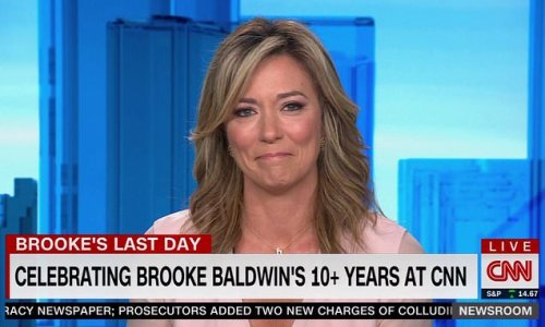Brooke Baldwin cries as she signs off from her last CNN show