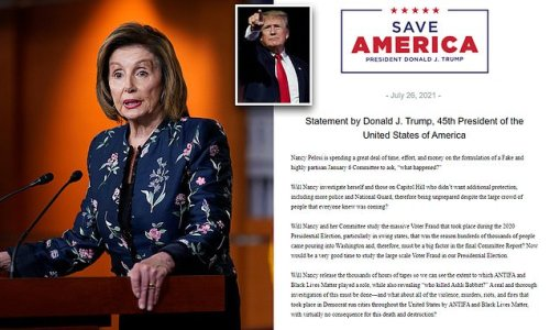 Trump criticizes Pelosi on eve of first riot committee hearing