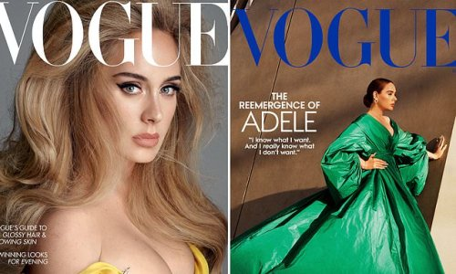 Adele is proud of Vogue shoots as FIRST star on both US and UK covers