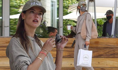 Alessandra Ambrosio shows off her abs after grabbing lunch in Malibu