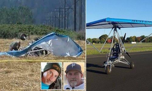 Two men killed when homebuilt motorized glider crashes in Oregon field