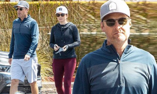 The Bachelor host Chris Harrison gets lunch with ladylove Lauren Zima