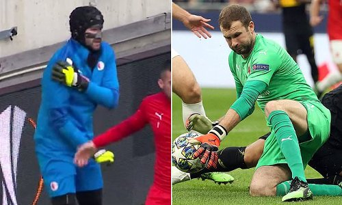 Slavia Prague keeper suffers shoulder injury ahead of Arsenal clash