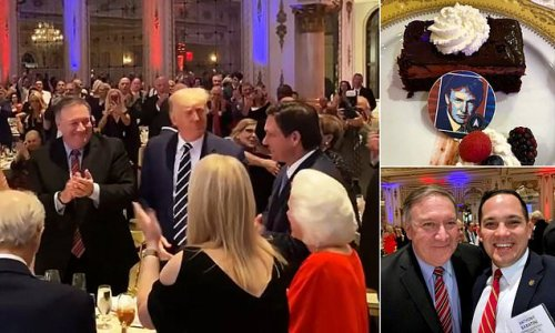 Trump enjoys Lincoln Day fundraising dinner at Mar-a-Lago
