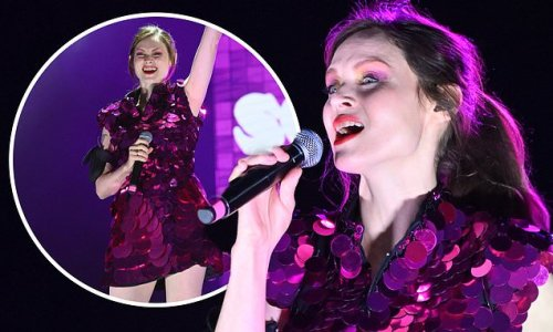 Sophie Ellis-Bextor commands attention in a purple disc minidress