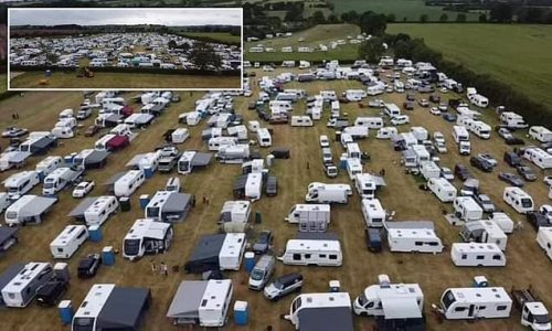 Locals 'too scared to leave homes' as 1,500 travellers descend on area