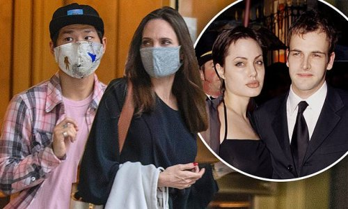 Angelina Jolie visiting ex-Johnny Lee Miller's apartment with son Pax
