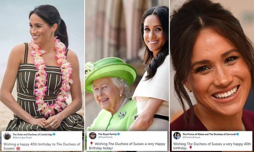 Prince William and Kate Middleton wish Meghan Markle happy birthday