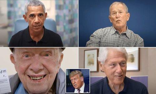 Carter, Clinton, Bush and Obama - not Trump - urge COVID vaccination