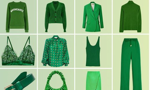 How to embrace the AW21 green sleeves trend