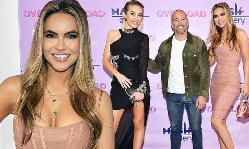 Chrishell Stause attends art exhibit in Downtown LA with costars