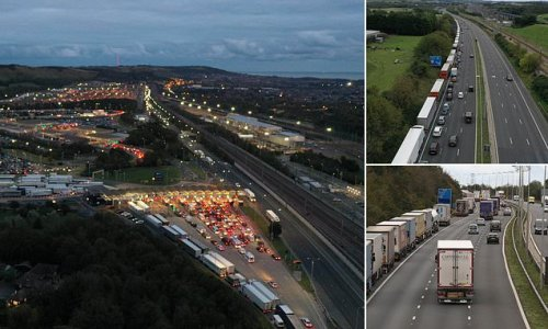Holidaymakers queue for Channel Tunnel for more than TEN HOURS