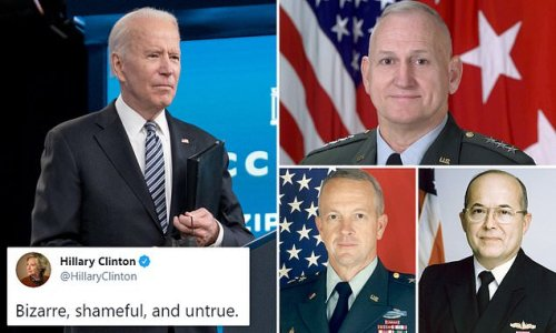 Retired generals slammed for 'shameful' attack on Biden