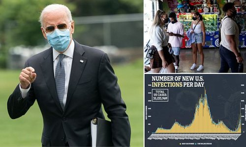 Biden's approval DROPS by 10% as COVID cases grow and inflation rises