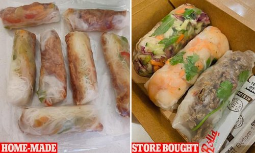 Mum's simple recipe for homemade rice paper rolls IDENTICAL to Roll'd