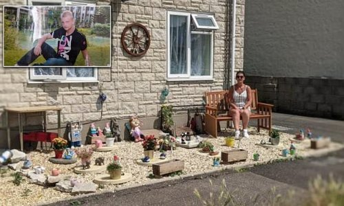 Mother told by housing association to REMOVE memorial garden she built