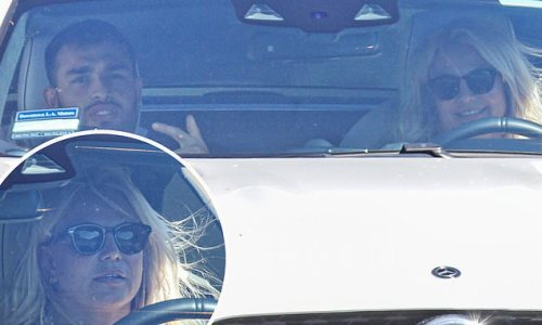 Britney Spears and her soon-to-be husband Sam Ashgari hit the road