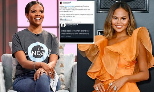 Candace Owens brands Chrissy Teigen a 'massive, disgusting hypocrite'
