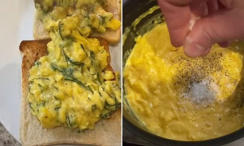 Top chef reveals the secret to his perfect scrambled eggs every time