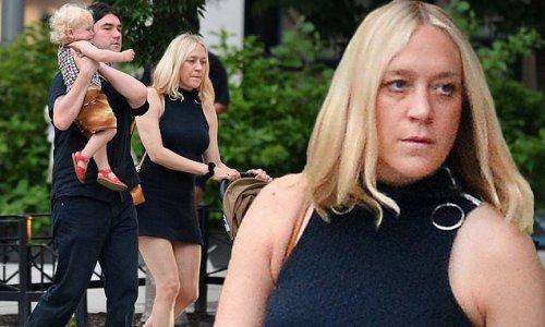 Chloe Sevigny and Sinisa Mackovic take their son on a stroll around NY
