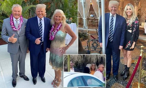 Trump attends Hawaiian party hosted by Peter Lamelas at Mar-a-Lago