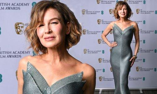BAFTA 2021 Film Awards: Renée Zellweger wows in sculpted pewter dress