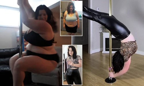 Mother loses 116lbs by POLE DANCING