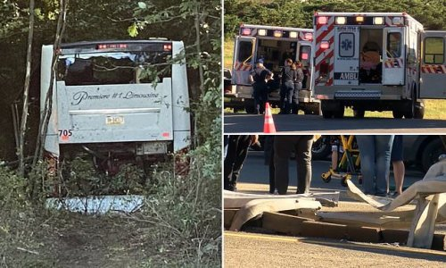 32 injured, 5 in critical, after bus veers off highway in Pennsylvania
