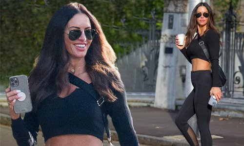 Nathan Buckley's girlfriend Alex Pike shows off her abs in activewear