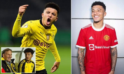 Dortmund pay tribute to Sancho after he completes £73m move to United