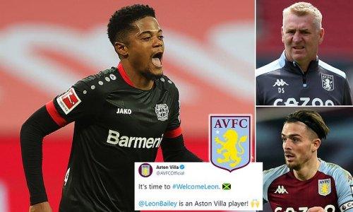 Aston Villa complete £30m signing of Leon Bailey from Bayer Leverkusen