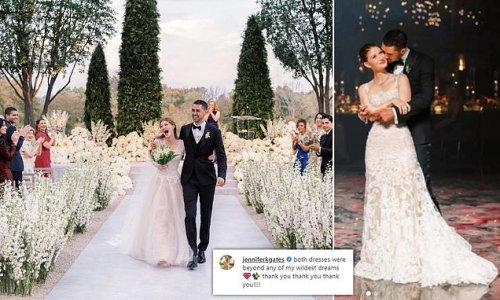 Jennifer Gates thanks Vera Wang for her TWO custom wedding dresses