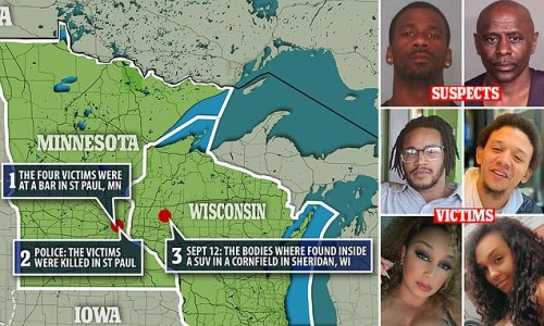 Four shot dead in SUV in Wisconsin were killed 60 miles away