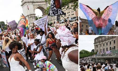 Thousands gather at rally in Brooklyn to show support for transgender
