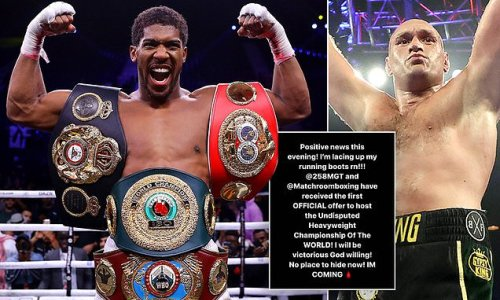 Joshua confirms 'first official offer' to host Fury clash