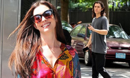 Anne Hathaway and Jared Leto are spotted working on WeCrashed