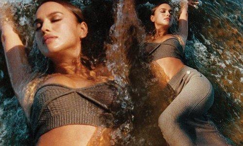 Irina Shayk flaunts her model figure in 'sensual' new fashion campaign
