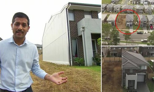 Dad plunges $700k into a dream home and is left with HALF a house