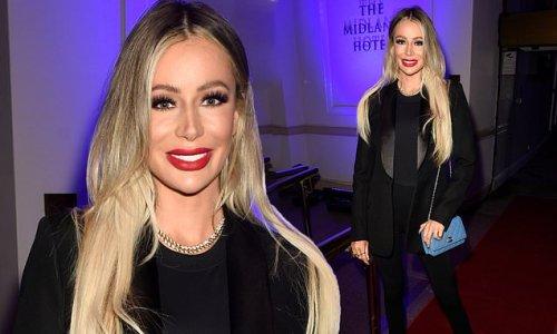 Olivia Attwood looks effortlessly elegant in a blazer and flares