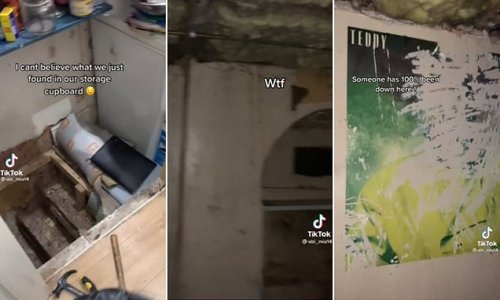 Teenager discovers scary secret basement in her storage cupboard