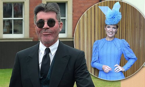 Simon Cowell looks and Charlotte Hawkins lead the stars at Royal Ascot