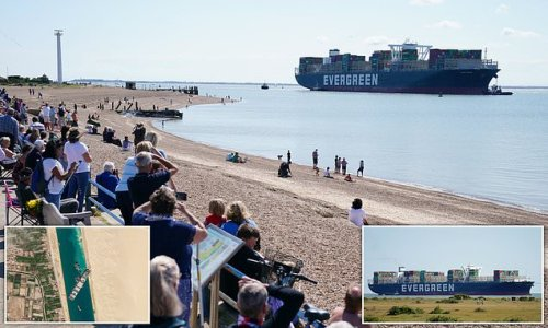 Ever Given arrives in Felixstowe 133 DAYS after blocking Suez Canal