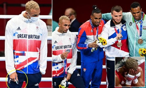 British boxer Ben Whittaker REFUSES to wear his silver medal on podium