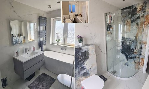 DIY couple transform old bathroom into a modern space and save £1,000