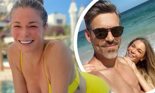 LeAnn Rimes gets wet and wild in itsy bitsy yellow bikini in Mexico