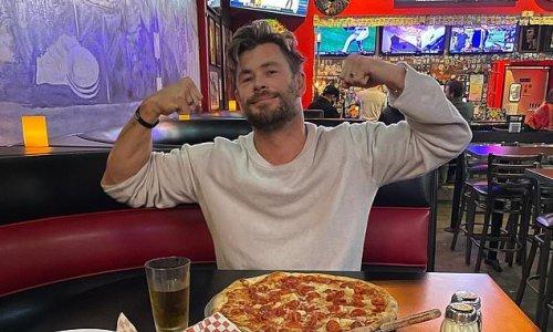 Chris Hemsworth reveals his monster junk food meal as he lands in LA