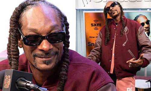 Snoop Dogg puts on a smile during interview days after mother's death